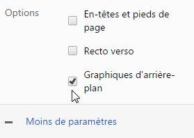Imprimer le calendrier (Chrome)