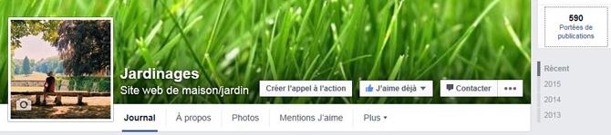 Jardinages sur Facebook
