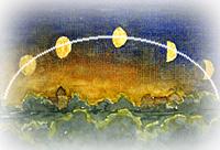 Ascension de la Lune (montante ou descendante)
